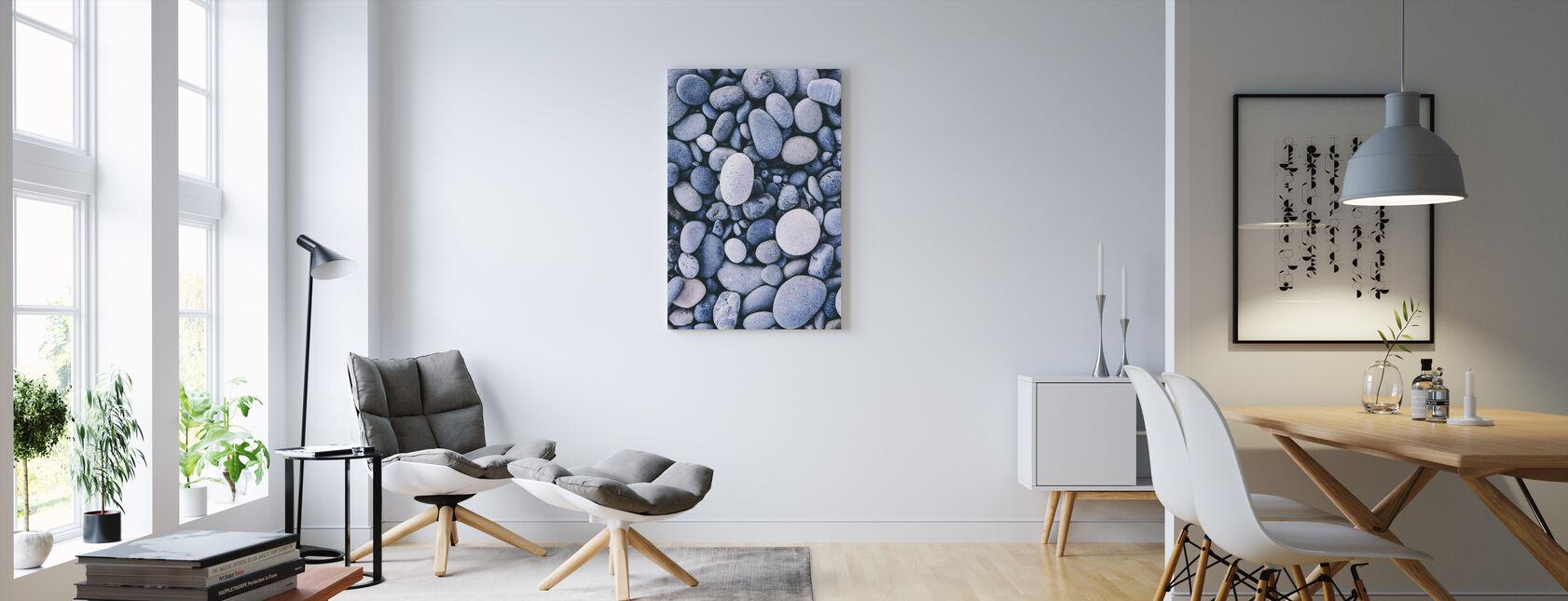 Smooth Pebbles - Canvas print - Living Room