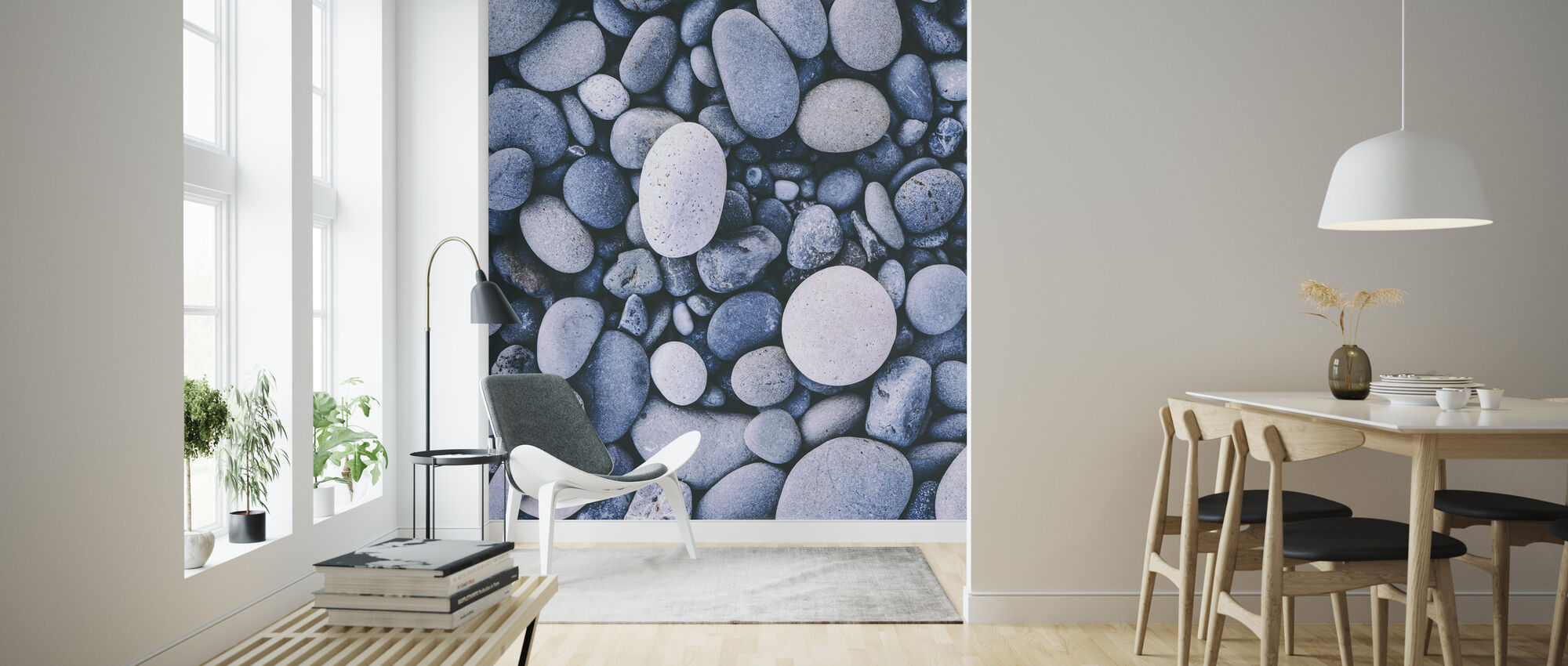 Smooth Pebbles - Wallpaper - Living Room