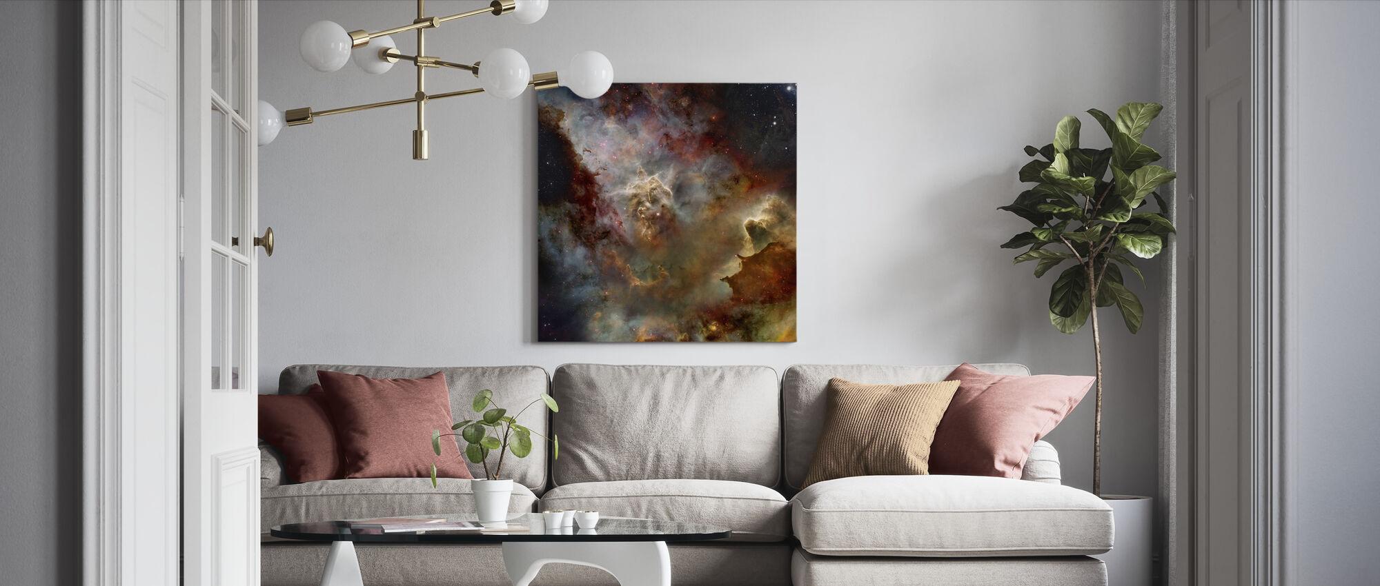 Deep Space Nebula - Canvas print - Living Room