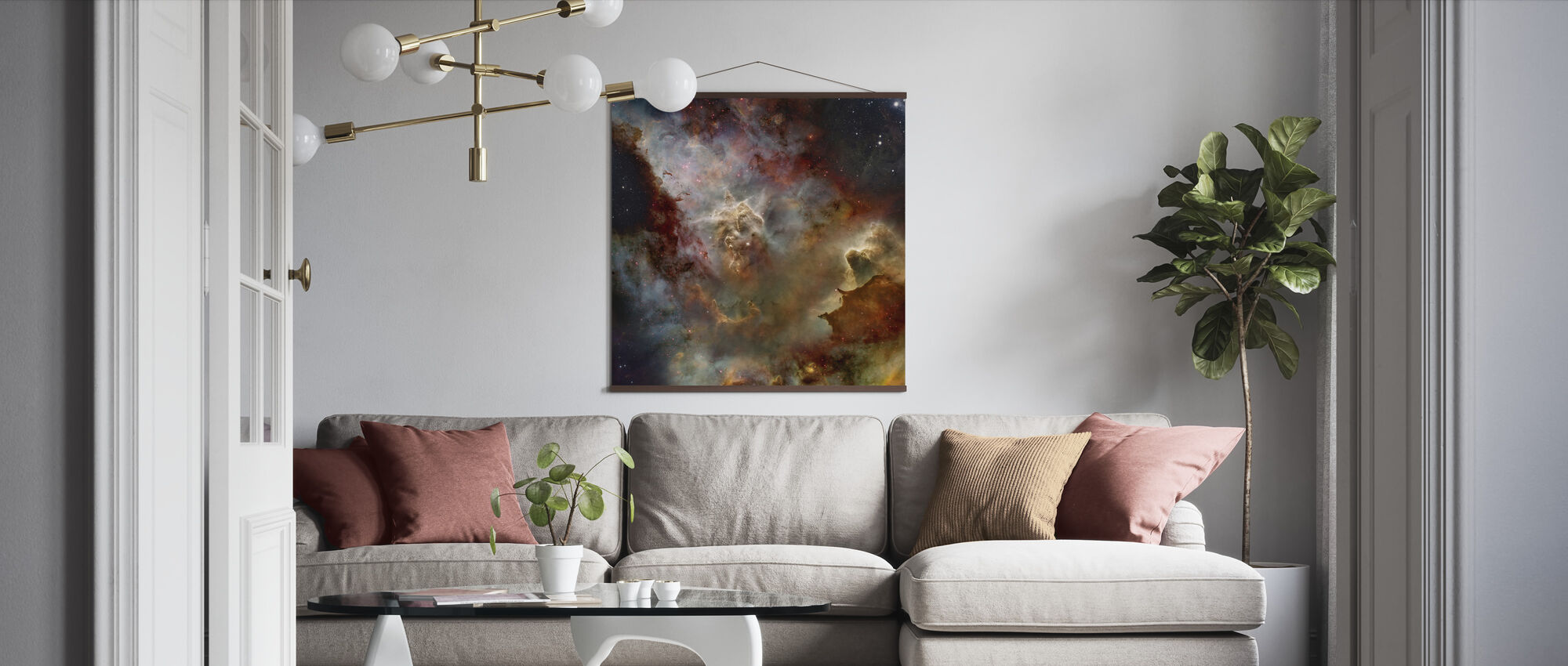 Deep Space Nebula - Poster - Living Room