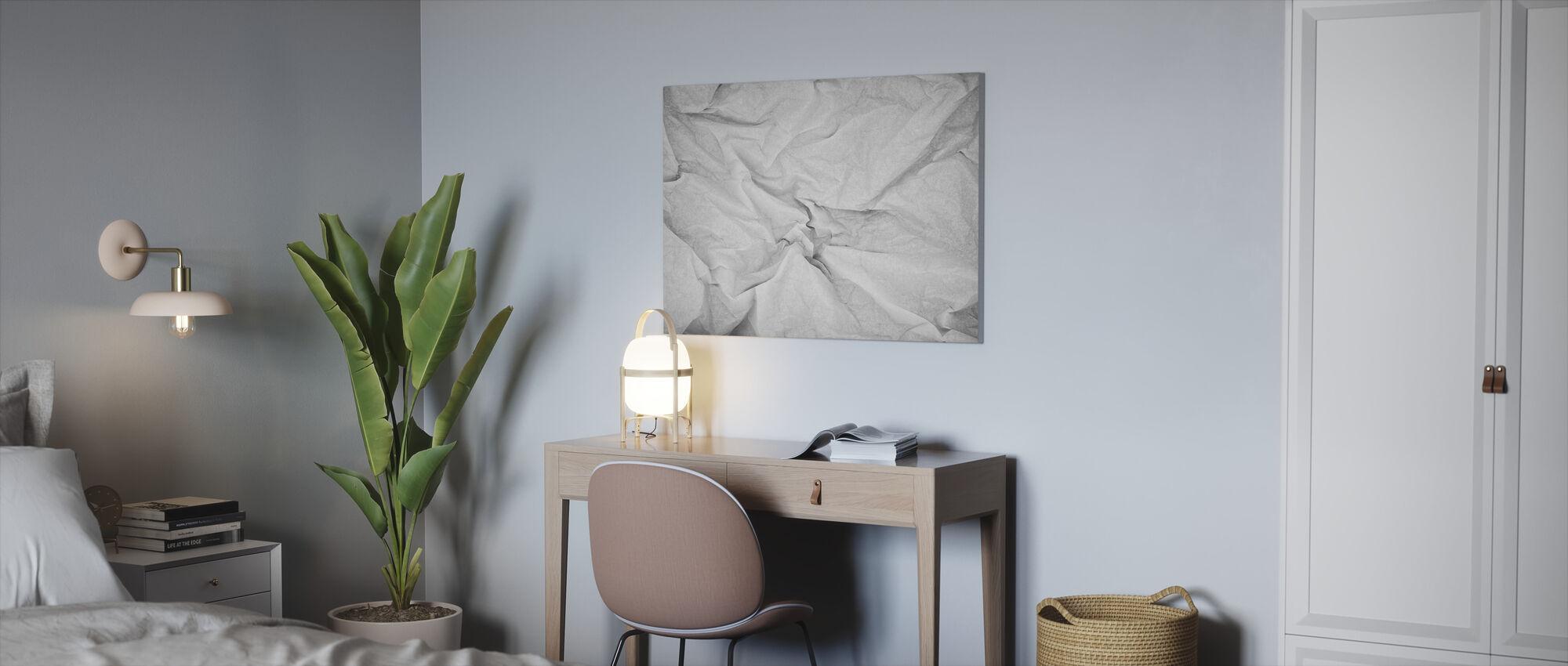 Gerimpeld papier - Canvas print - Kantoor