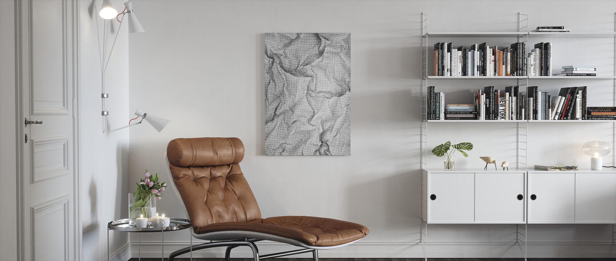 Gerimpeld kwadraat papier 2 - Canvas print - Woonkamer