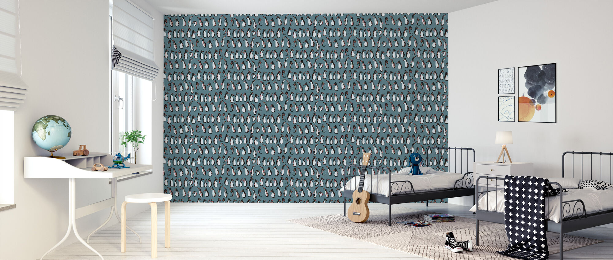 Penguin Night - Wallpaper - Kids Room