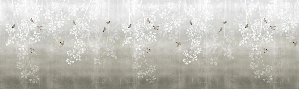 Bohemian Birds - Beige - Wallpaper