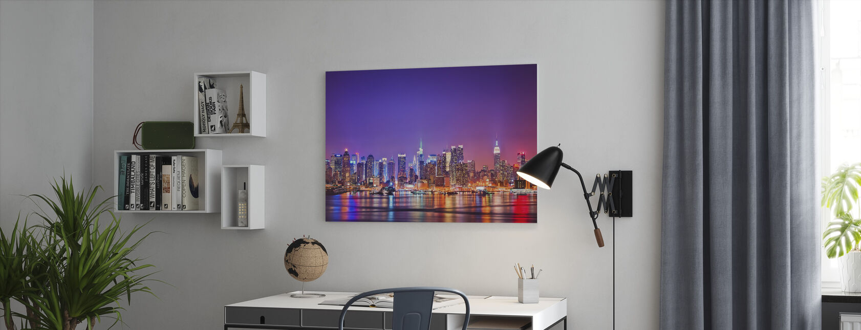 New York in Pink - Canvas print - Office