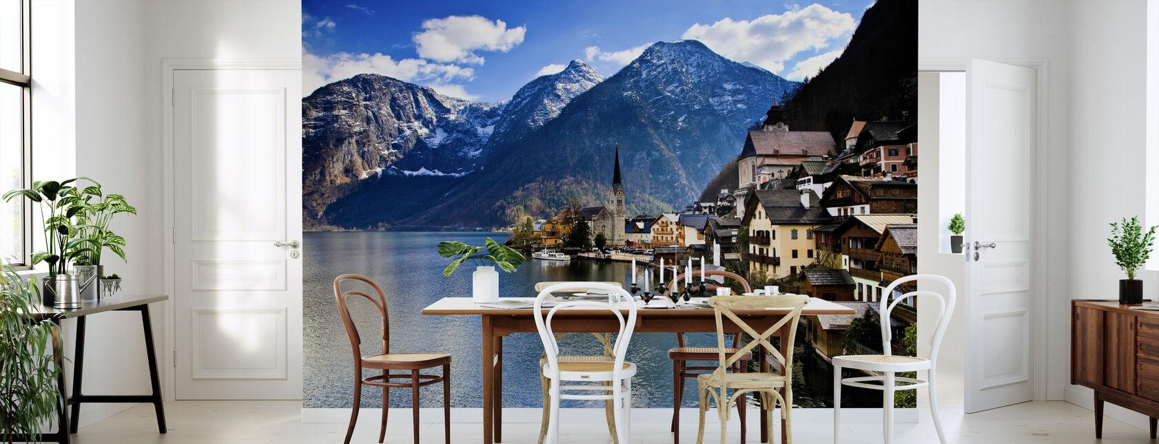 Small Austrian Mountain Village - Wallpaper - Kitchen