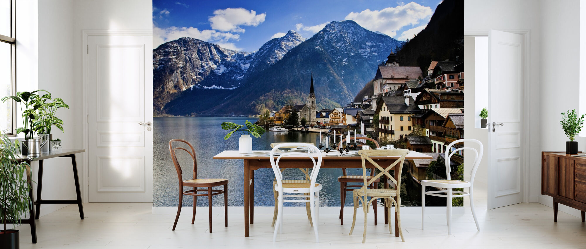 Small Austrian Mountain Village - Wallpaper - Kitchen
