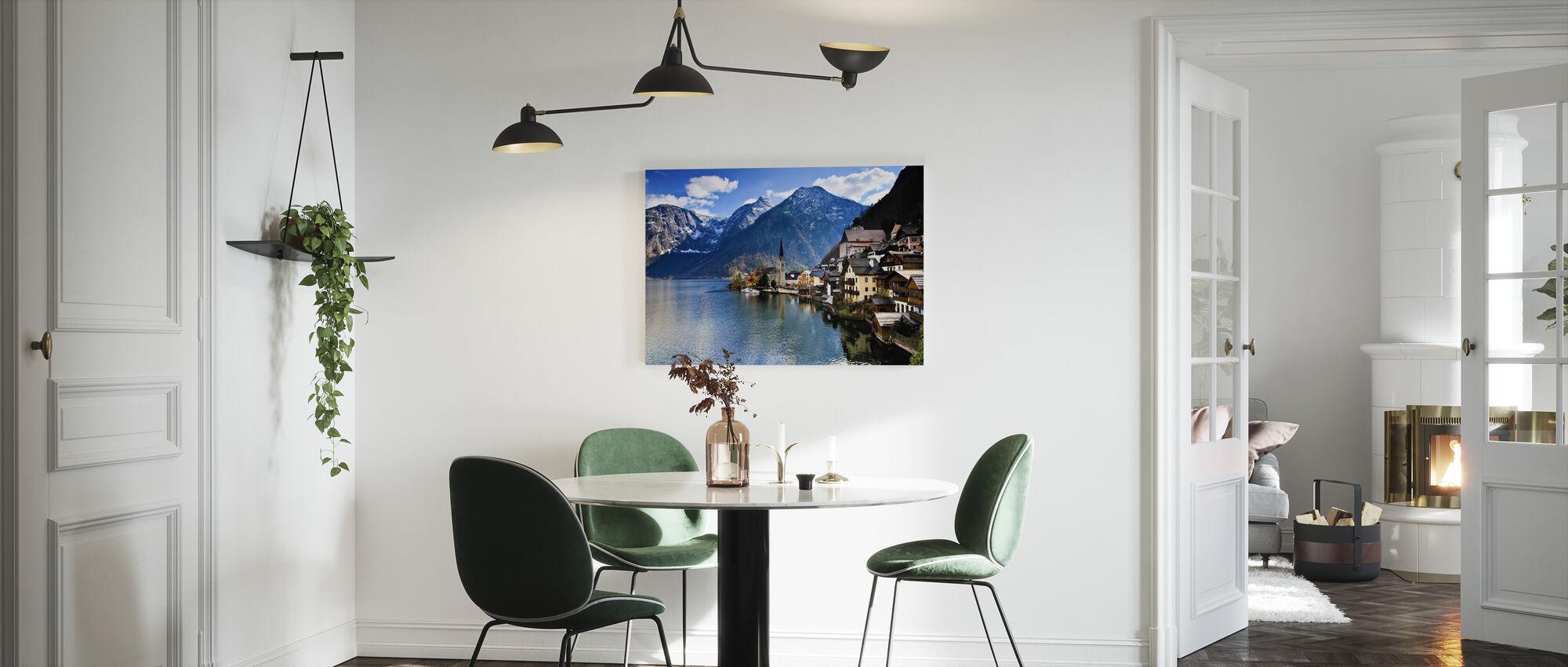 Liten österrikisk bergsby - Canvastavla - Kök