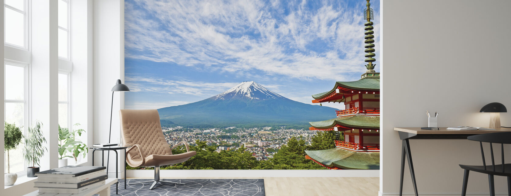 At the Foot of Mount Fuji - Wallpaper - Living Room