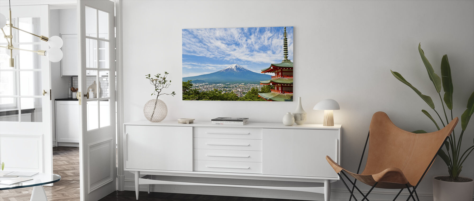At the Foot of Mount Fuji - Canvas print - Living Room