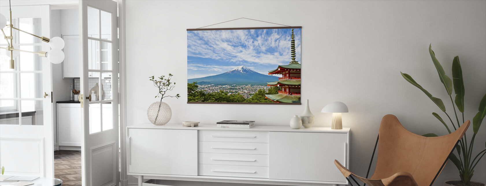 At the Foot of Mount Fuji - Poster - Living Room