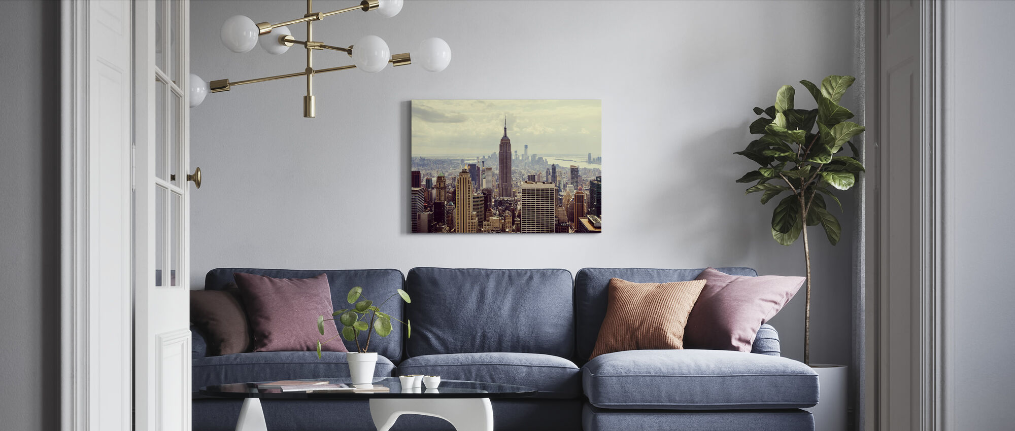 This is Manhattan - Canvas print - Living Room