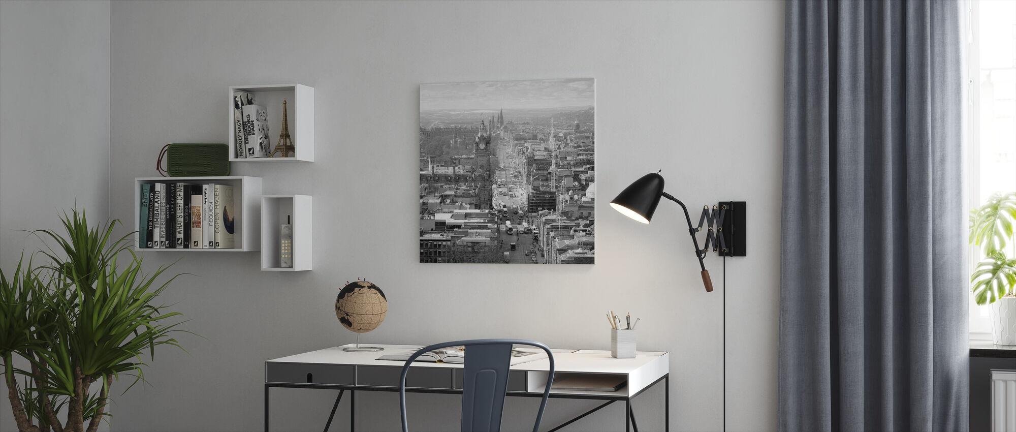 Edinburgh's Princes Street Taken at Midday - Canvas print - Office