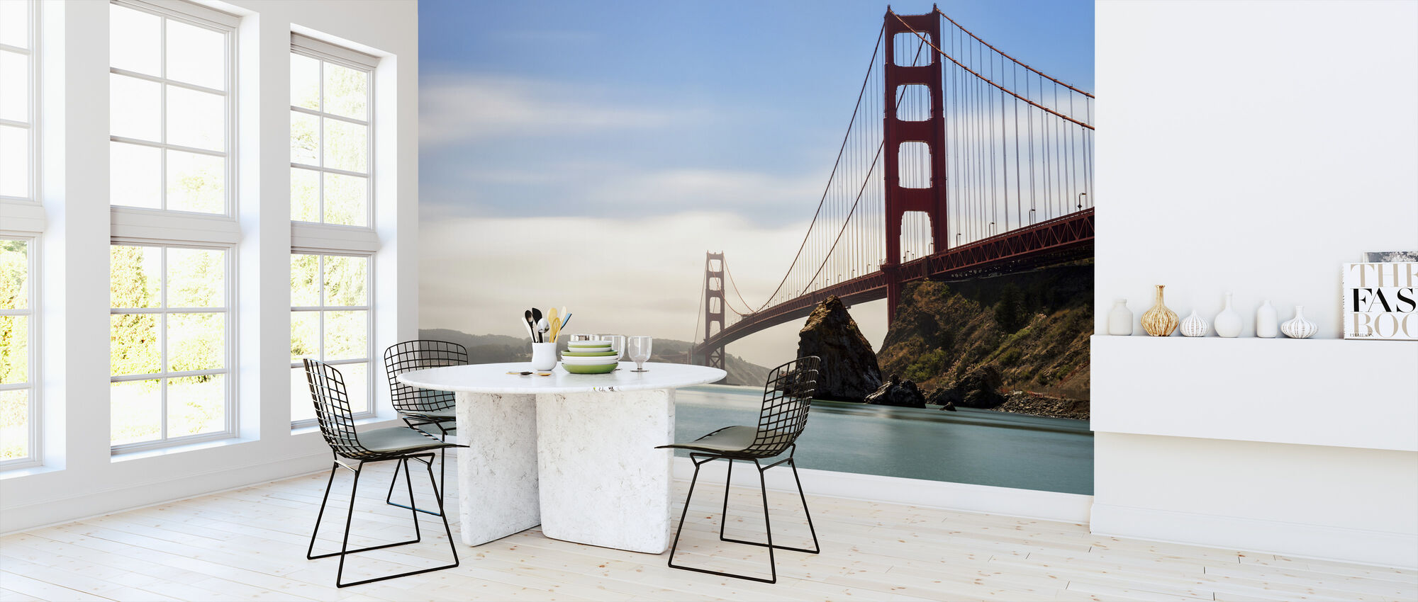 Longtime Exposure of the Golden Gate Bridge - Wallpaper - Kitchen