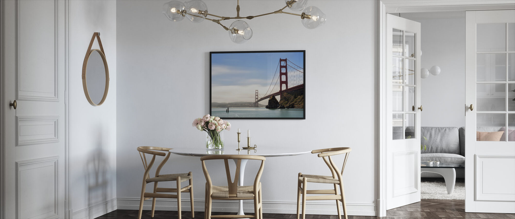 Longtime Exposure of the Golden Gate Bridge - Framed print - Kitchen