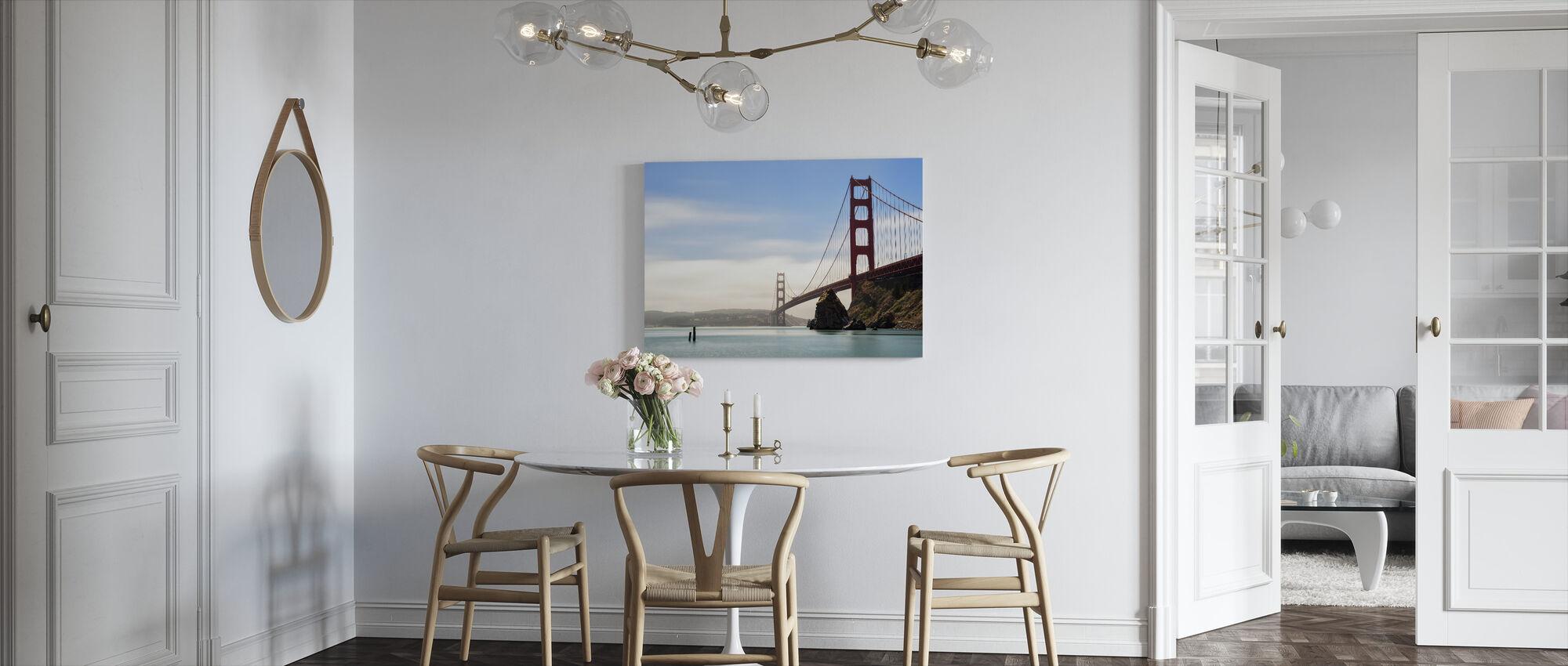 Longtime Exposure of the Golden Gate Bridge - Canvas print - Kitchen