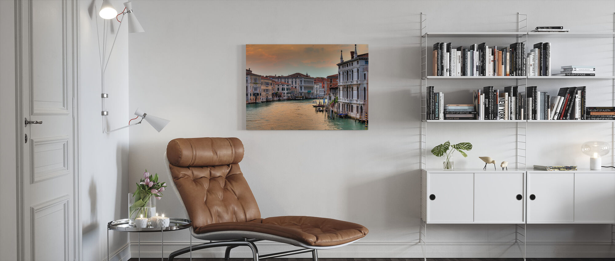 Grand Canal at Dusk - Canvas print - Living Room