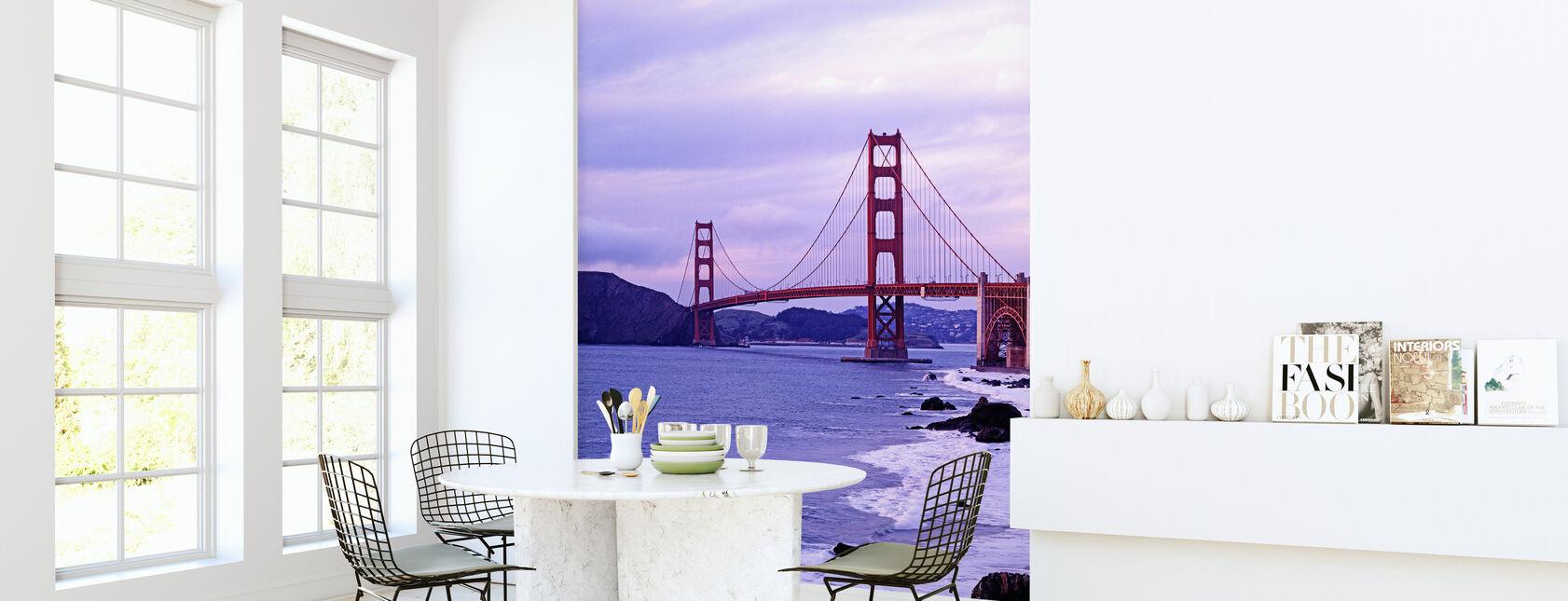 Bay Bridge in Purple Haze - Wallpaper - Kitchen