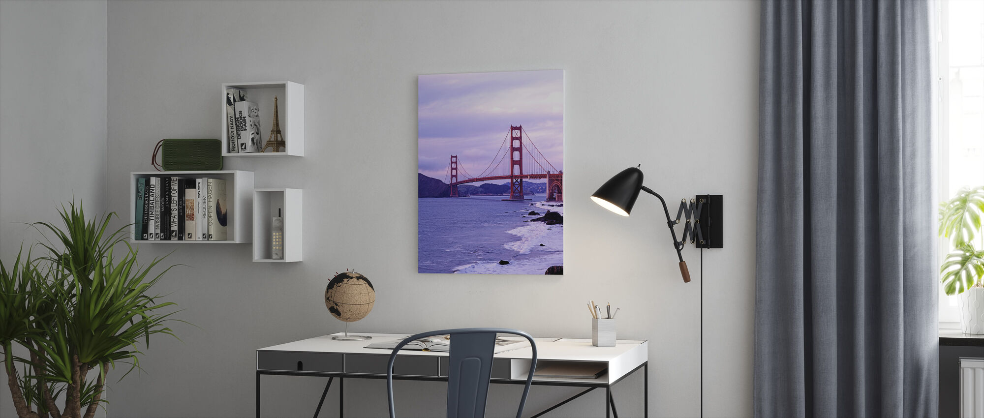 Bay Bridge in Purple Haze - Canvas print - Office