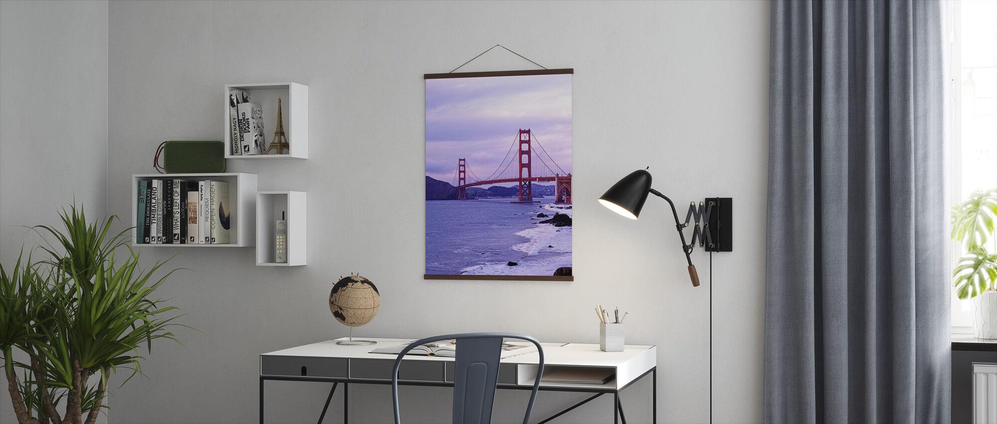 Bay Bridge in Purple Haze - Poster - Office