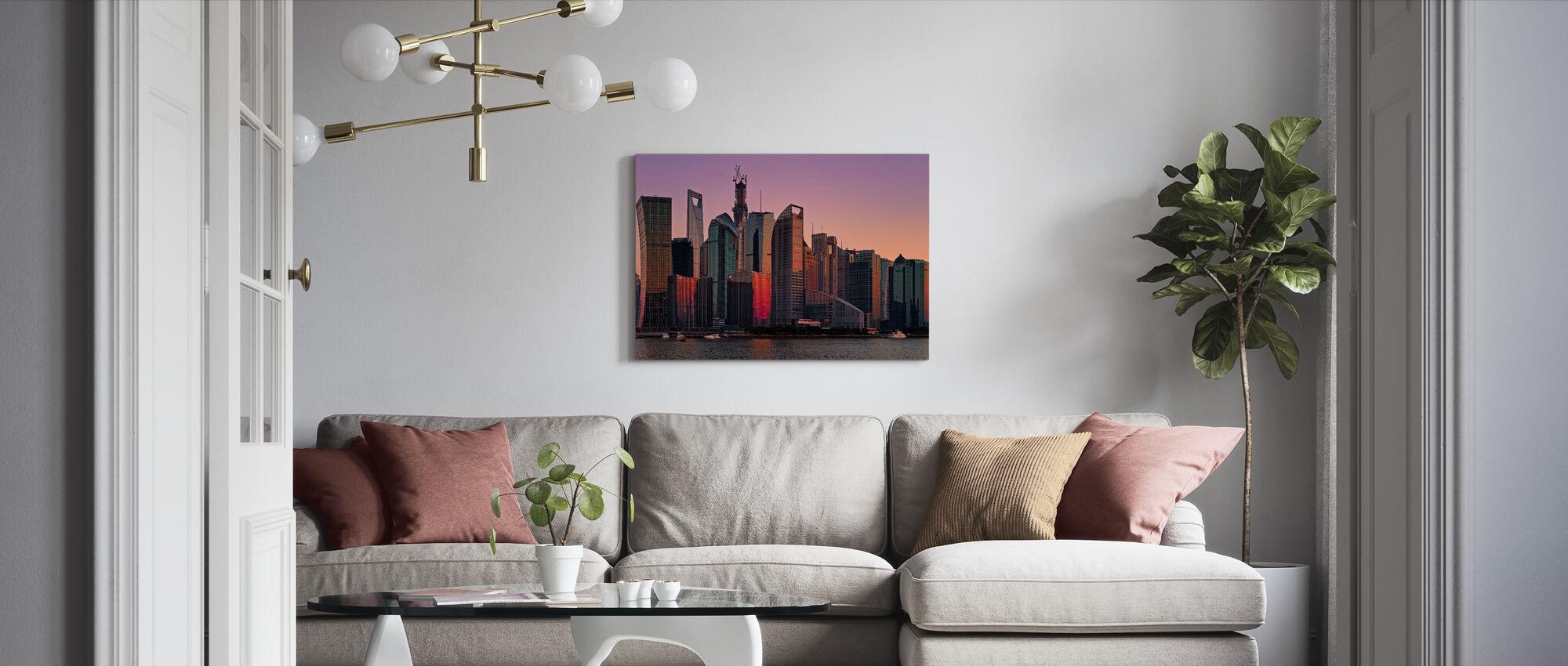 Sundown on Shanghai - Canvas print - Living Room