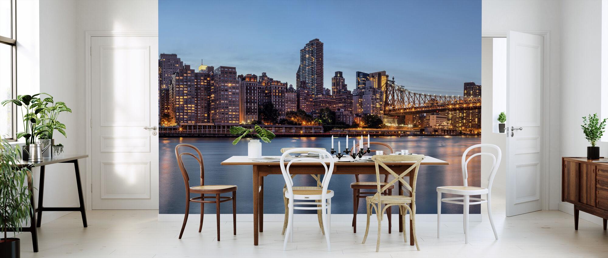 New York Panorama at Dusk - Wallpaper - Kitchen