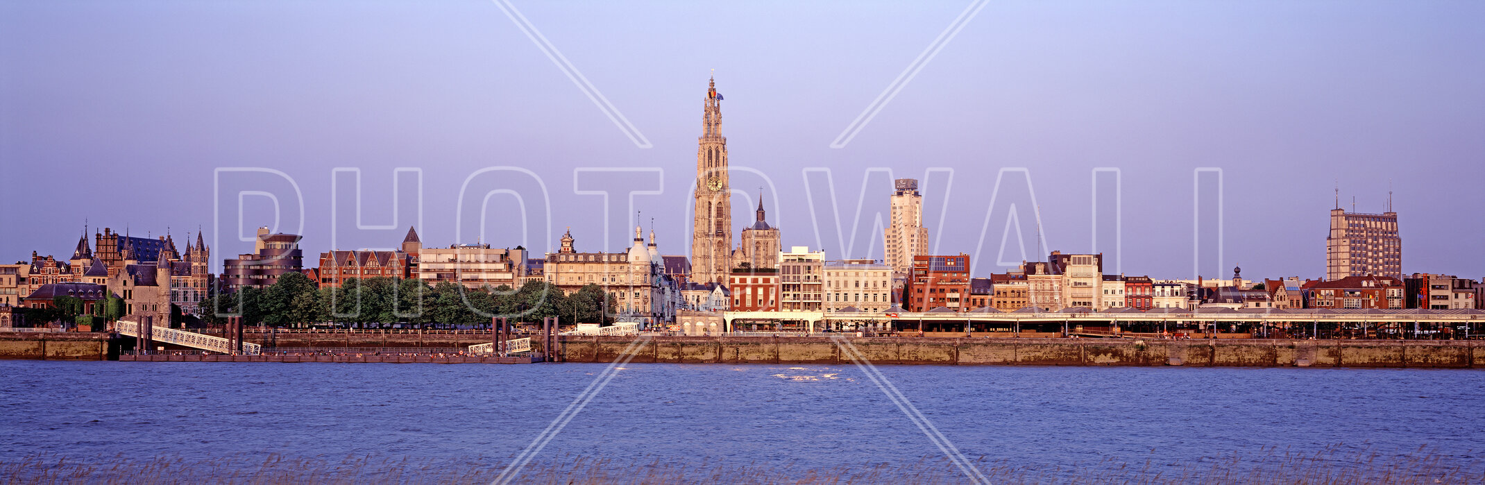 Antwerp Skyline At Dusk Fotobehang Online Photowall