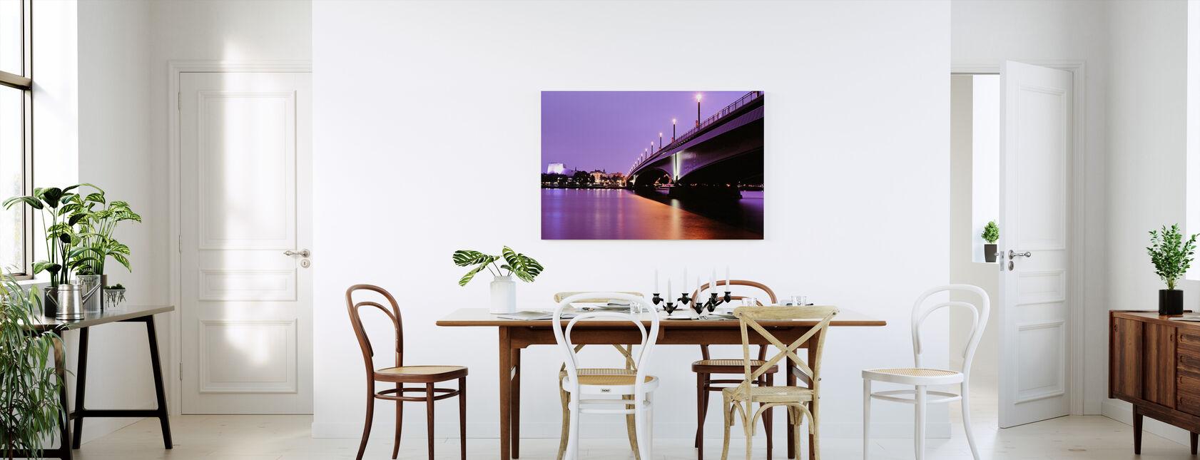 Kennedy Bridge over the River Rhine - Canvas print - Kitchen