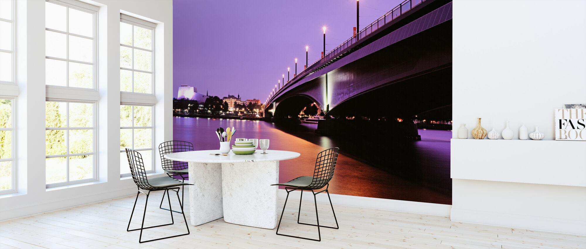 Kennedy Bridge over the River Rhine - Wallpaper - Kitchen