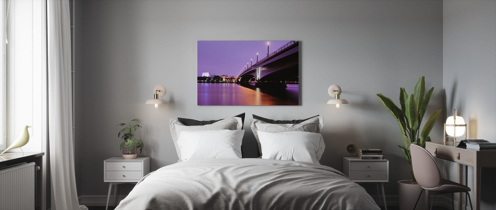 Kennedy-brug over de Rijn - Canvas print - Slaapkamer