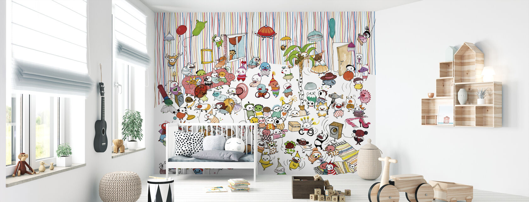 Motley Party 3 - Wallpaper - Nursery