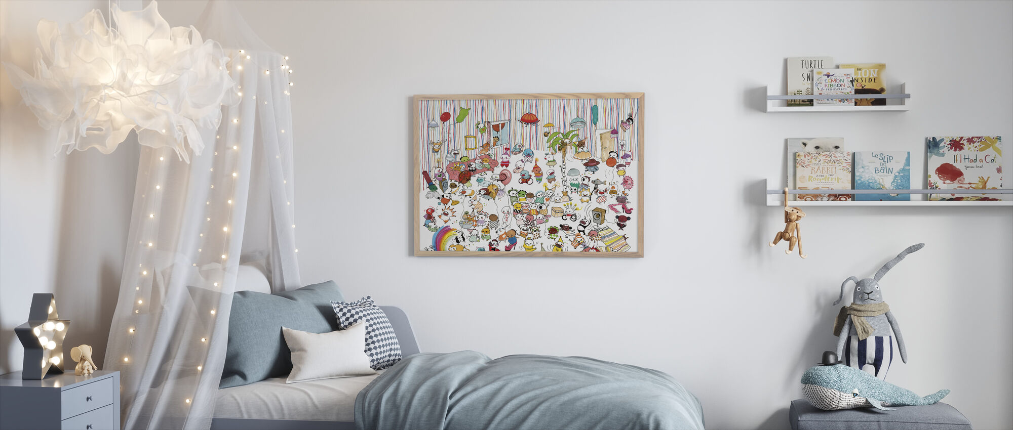 Motley Party 3 - Framed print - Kids Room