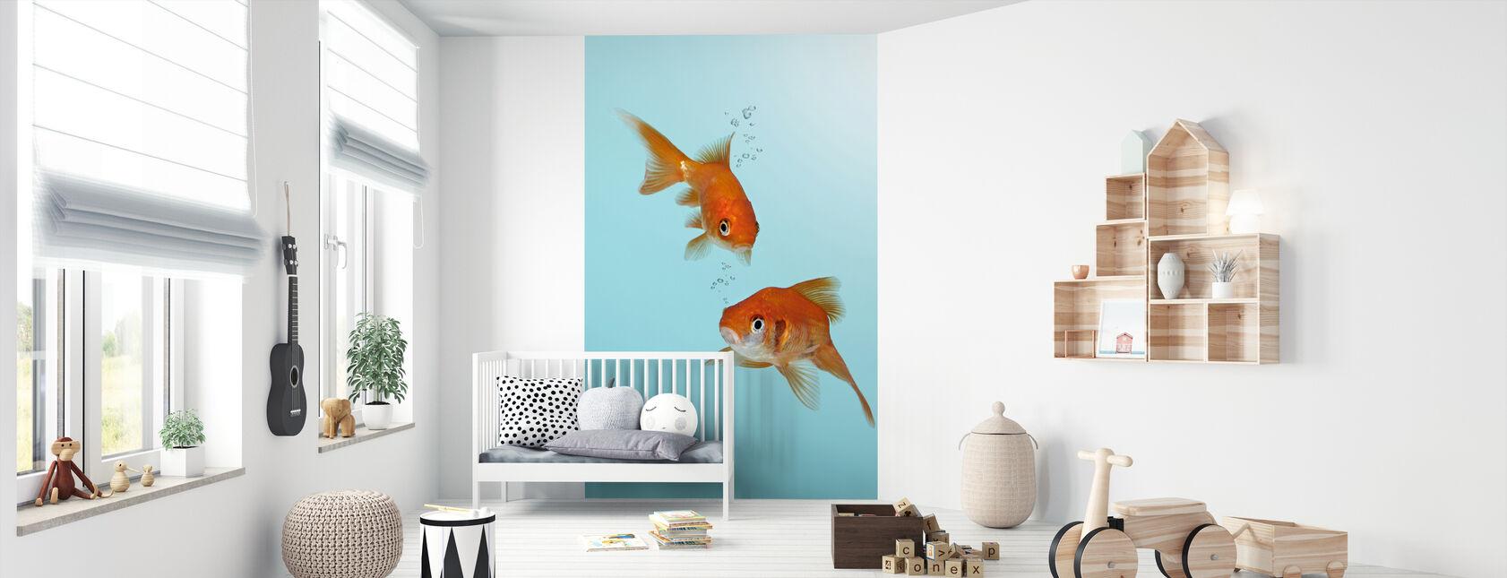 A Pair of Goldfish - Wallpaper - Nursery