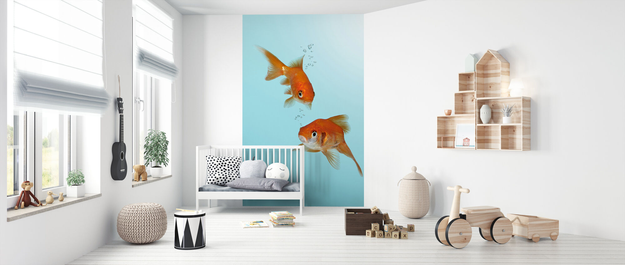 A Pair of Goldfish - Wallpaper - Nursery