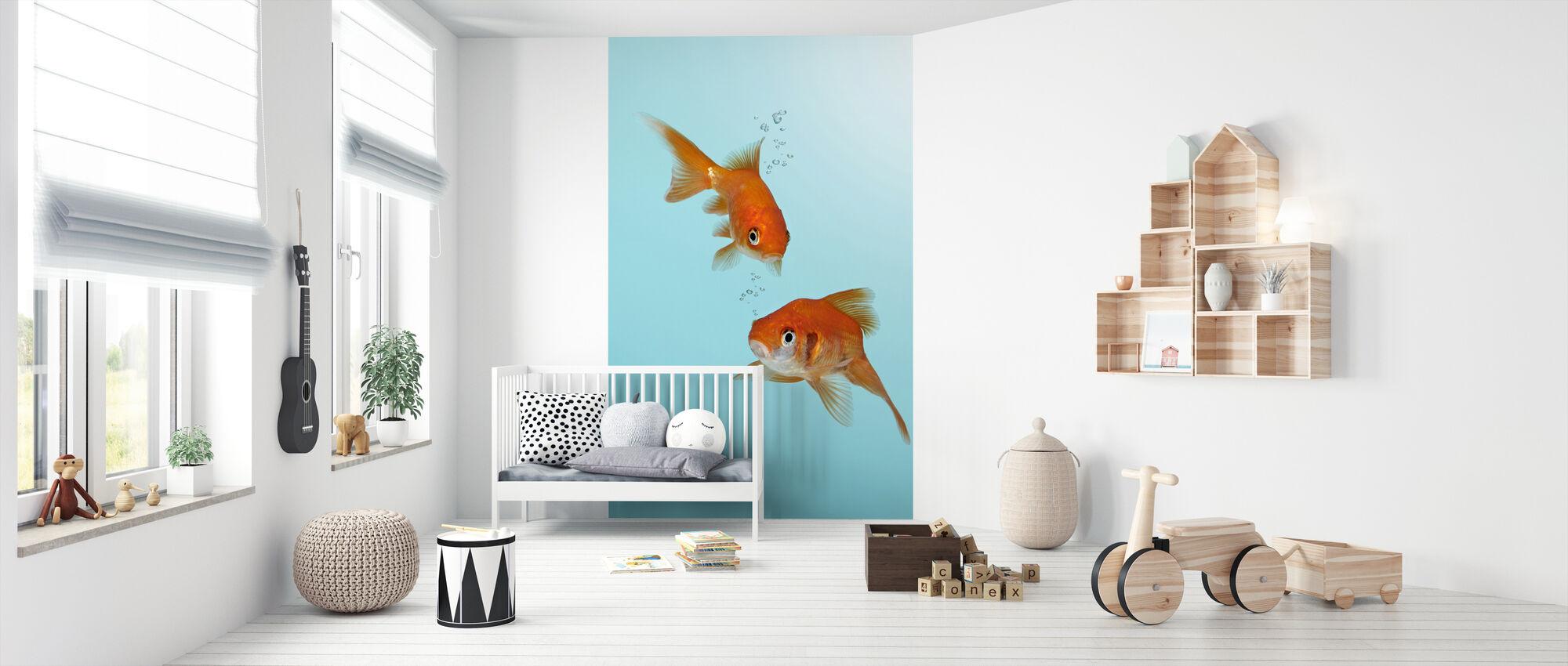 Ein Paar Goldfisch - Tapete - Babyzimmer