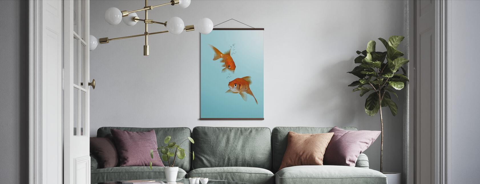 Ein Paar Goldfisch - Poster - Wohnzimmer