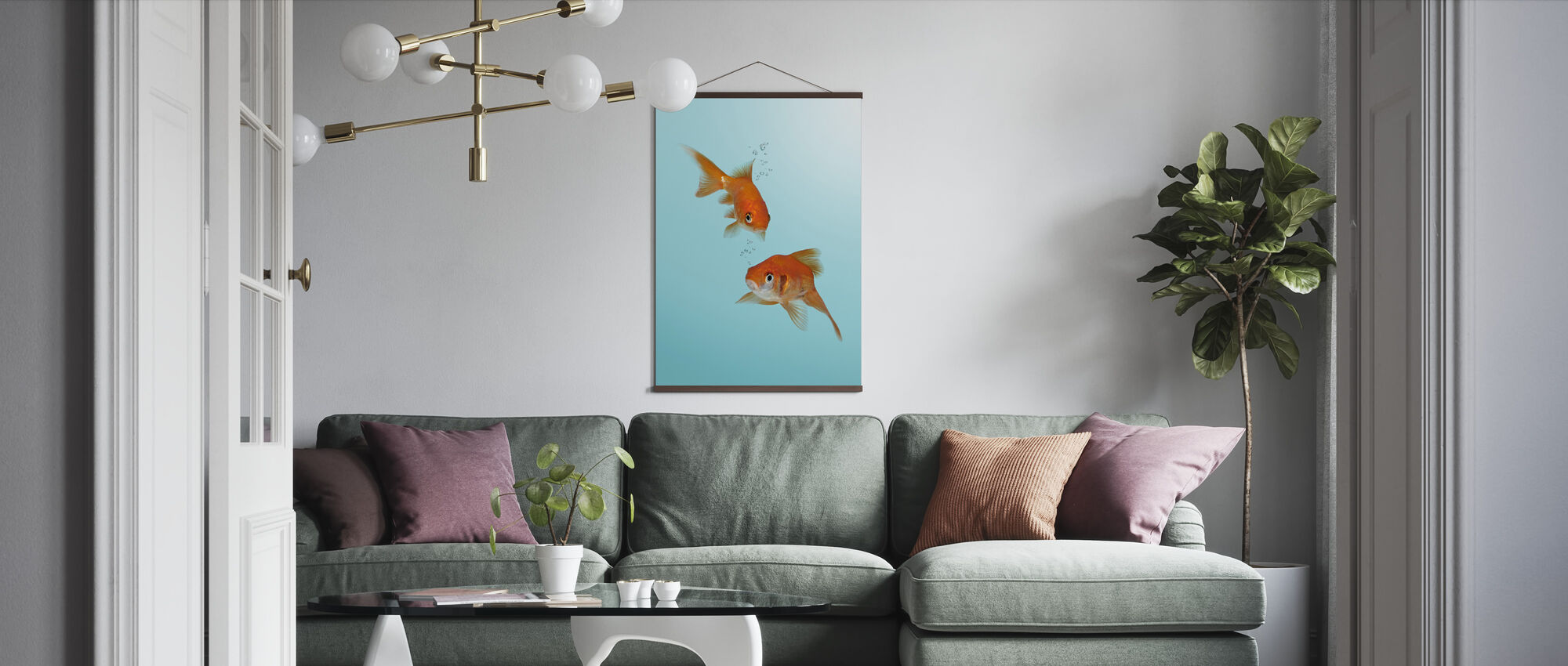 A Pair of Goldfish - Poster - Living Room