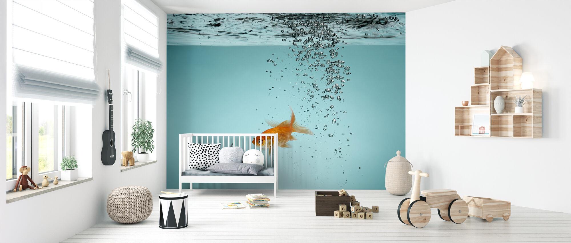 Yksinäinen Kultakala - Tapetti - Vauvan huone