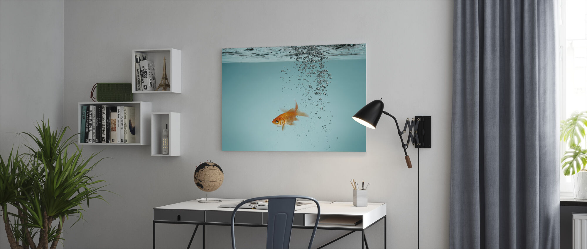 Lone Goldfish - Canvas print - Office