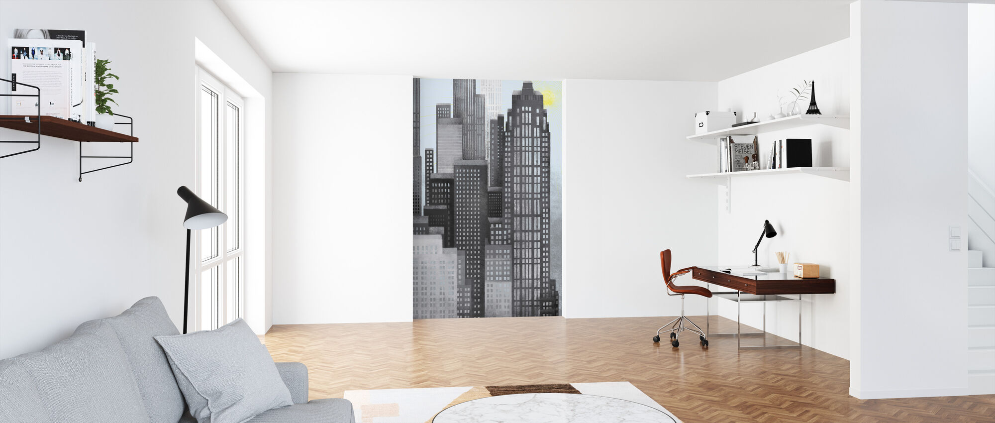 Sun and Skyscrapers - Wallpaper - Office