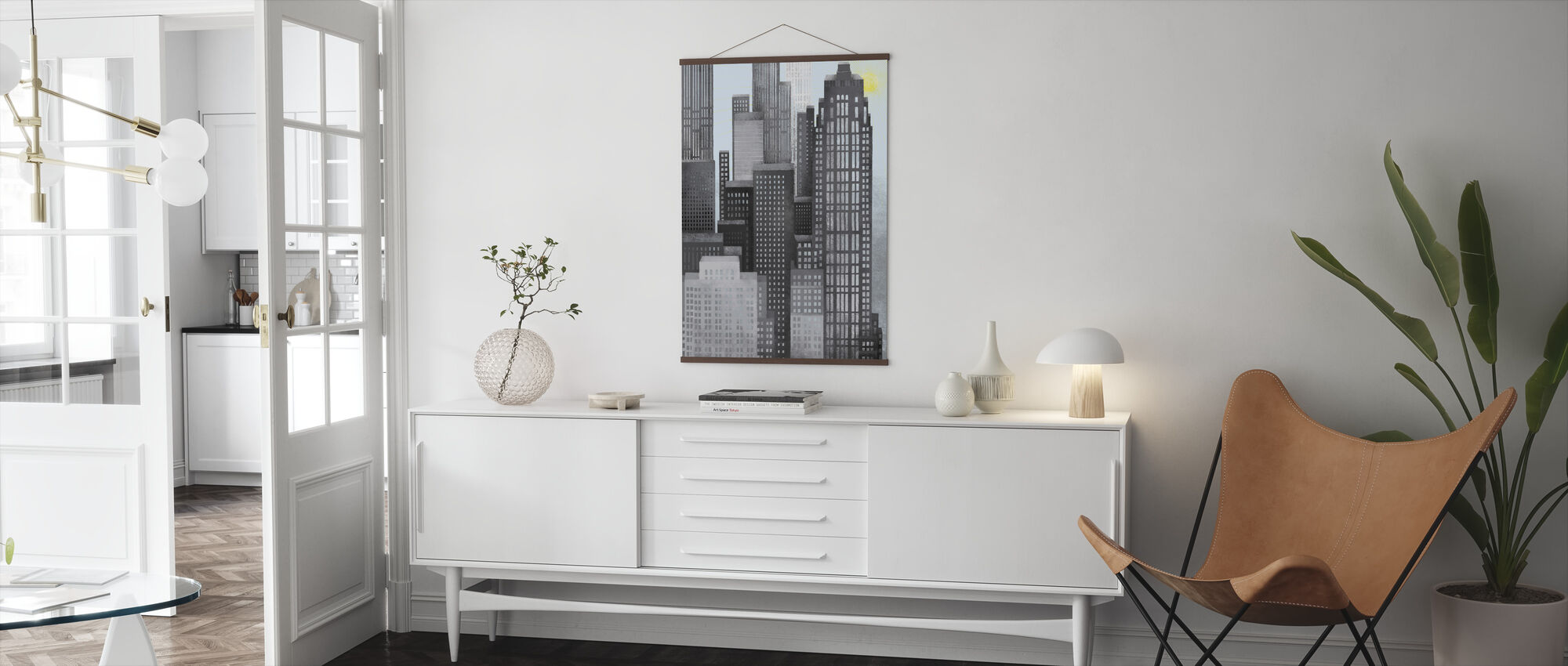 Sun and Skyscrapers - Poster - Living Room