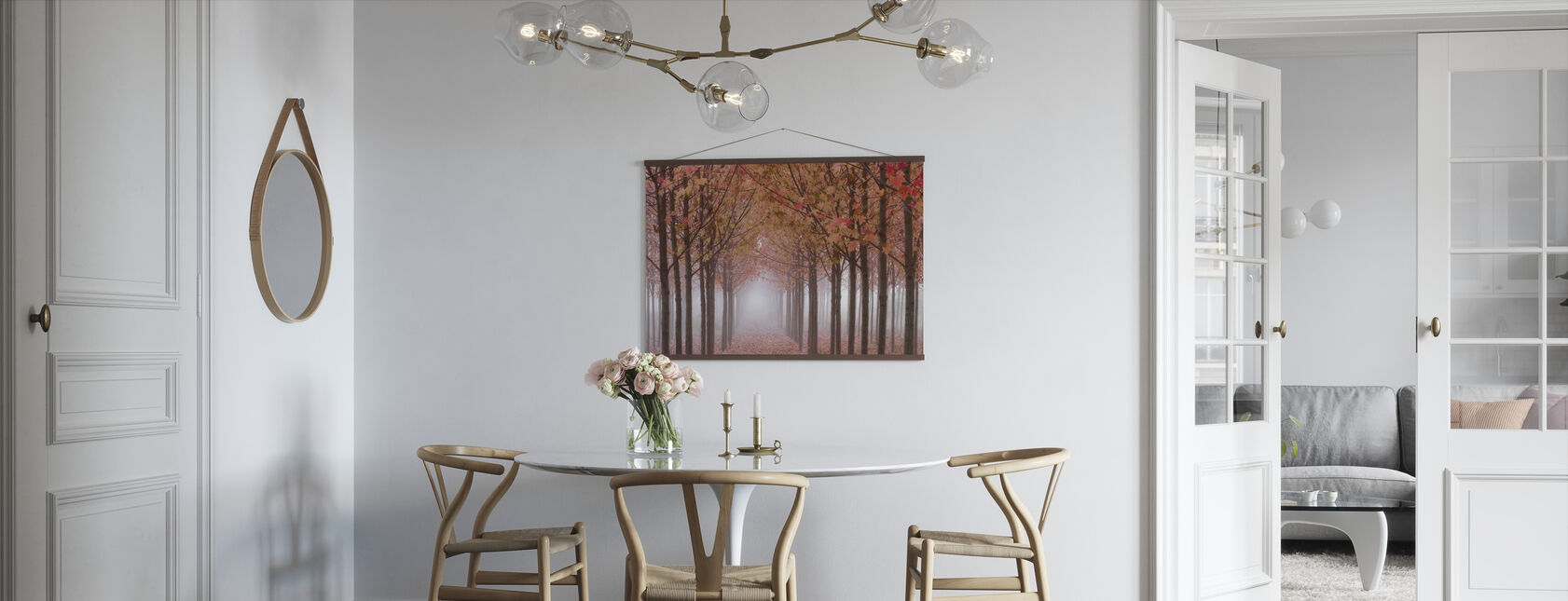 Autumnal Maple Trees in Pink Shades - Poster - Kitchen