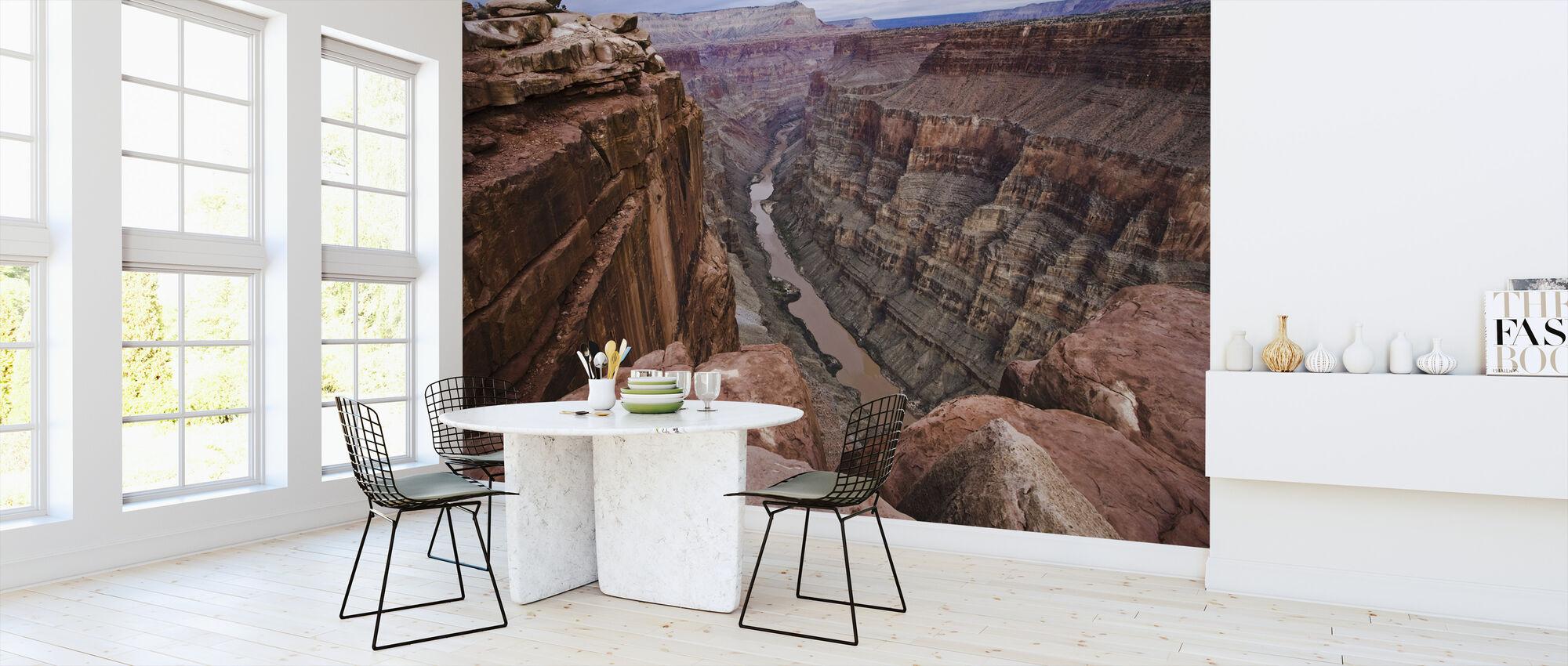 Hoog boven de rivier de Colorado - Behang - Keuken