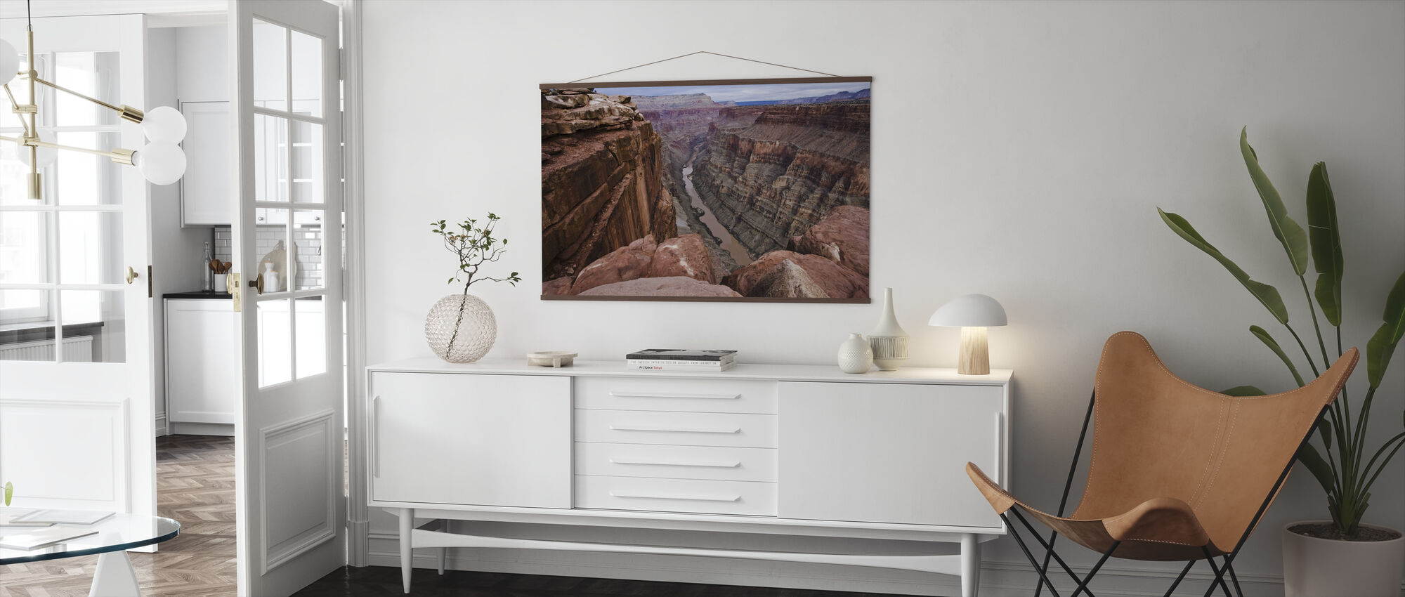 High above the Colorado River - Poster - Living Room