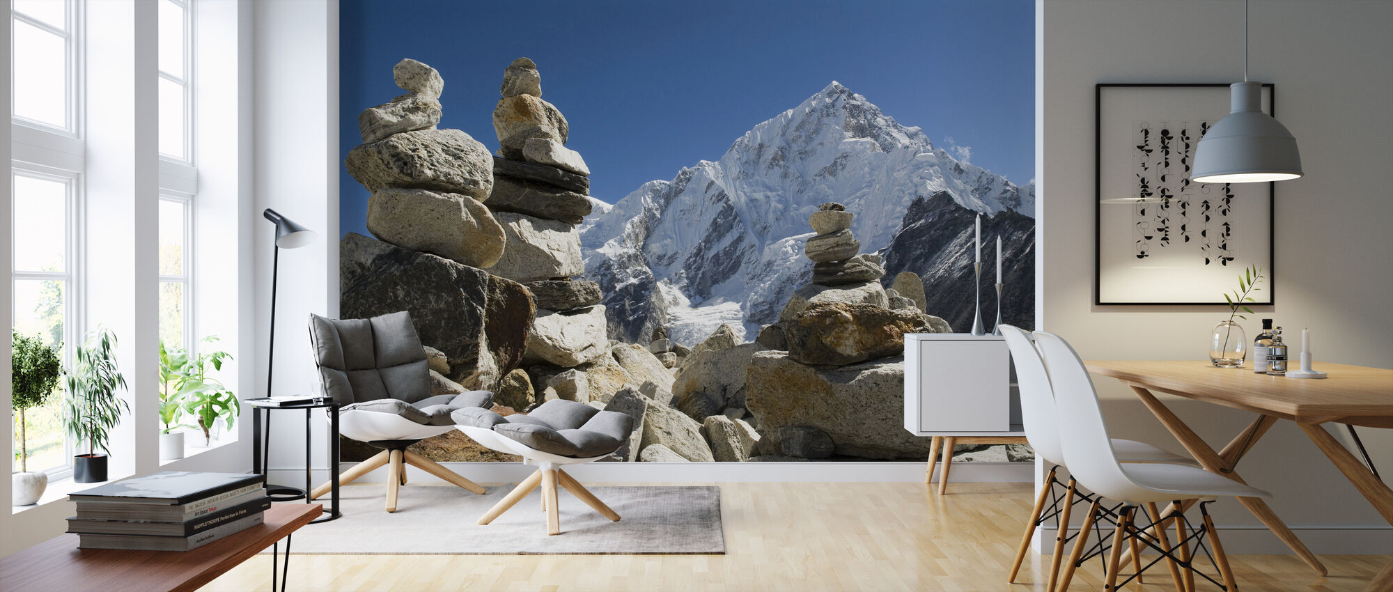 Rock Piles in the Himalayas - Wallpaper - Living Room