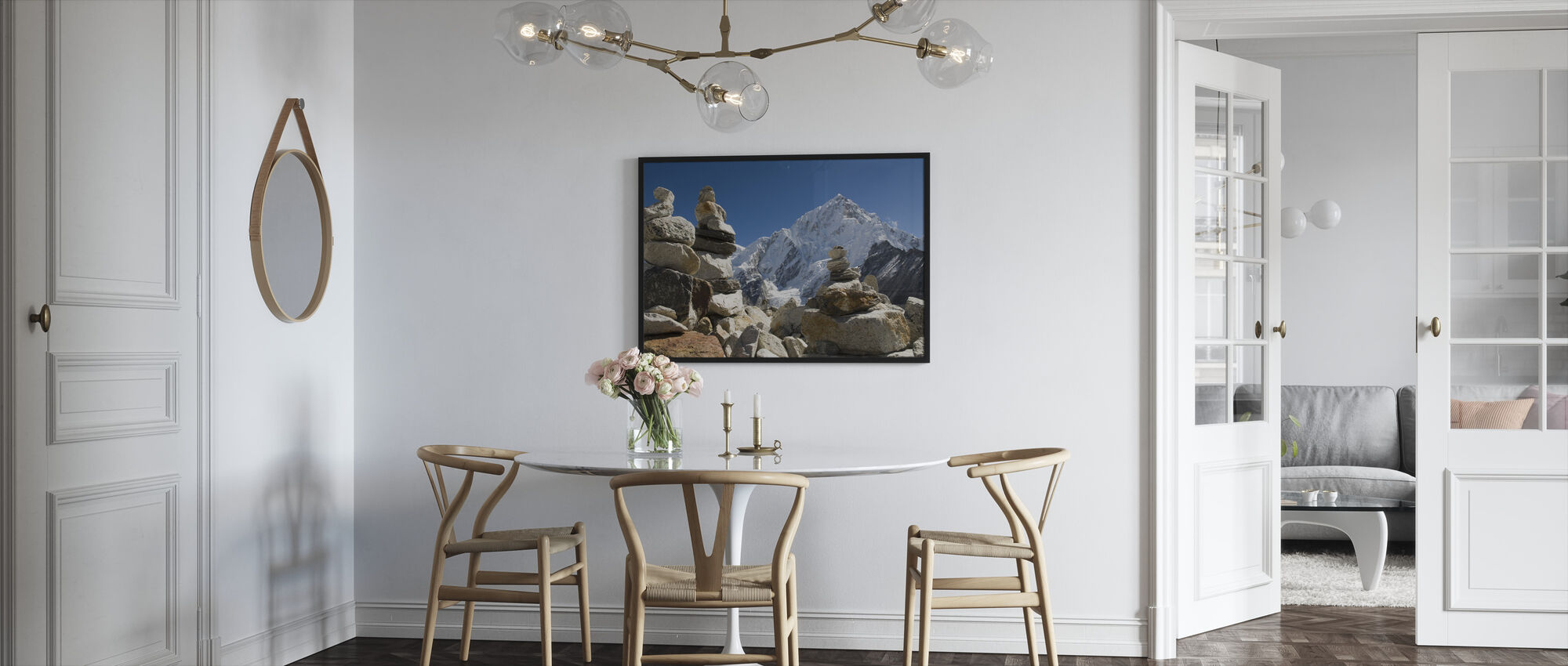 Rock Piles in the Himalayas - Framed print - Kitchen