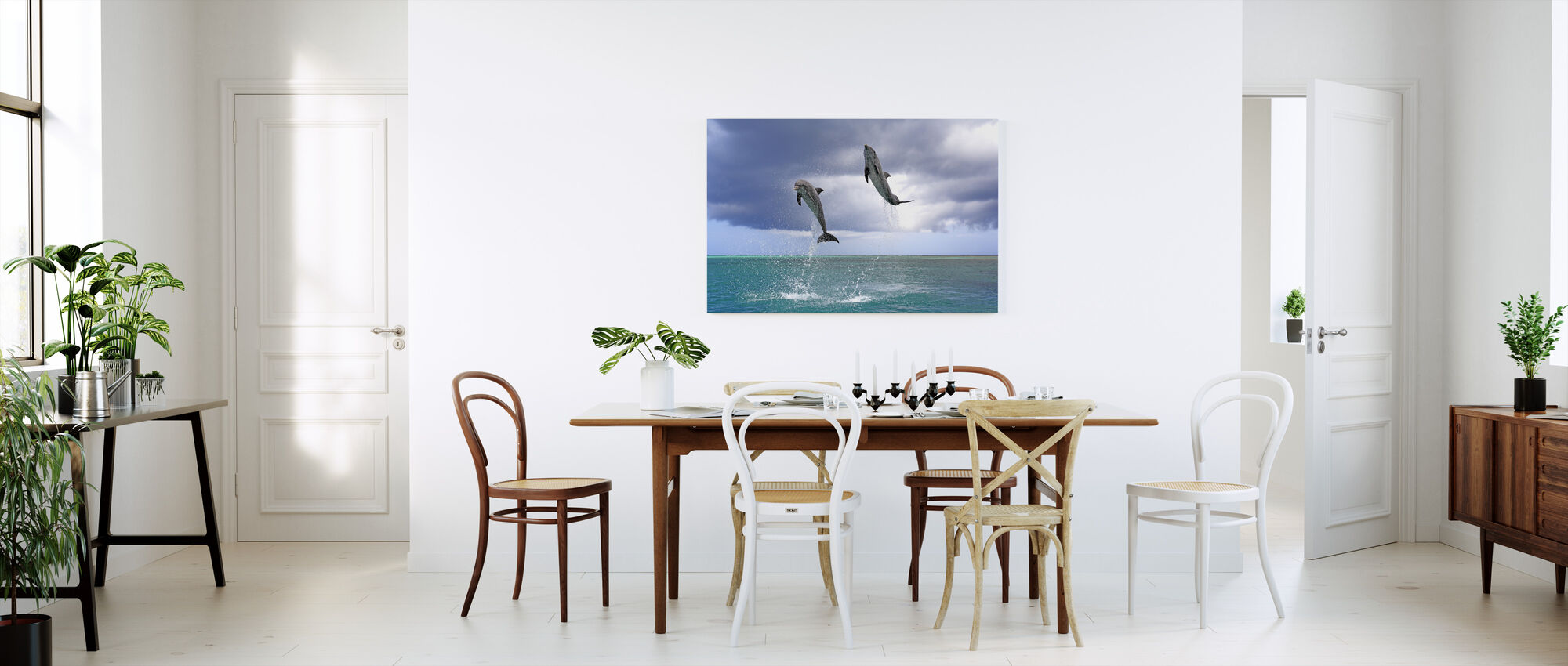 Jumping Dolphins - Canvas print - Kitchen