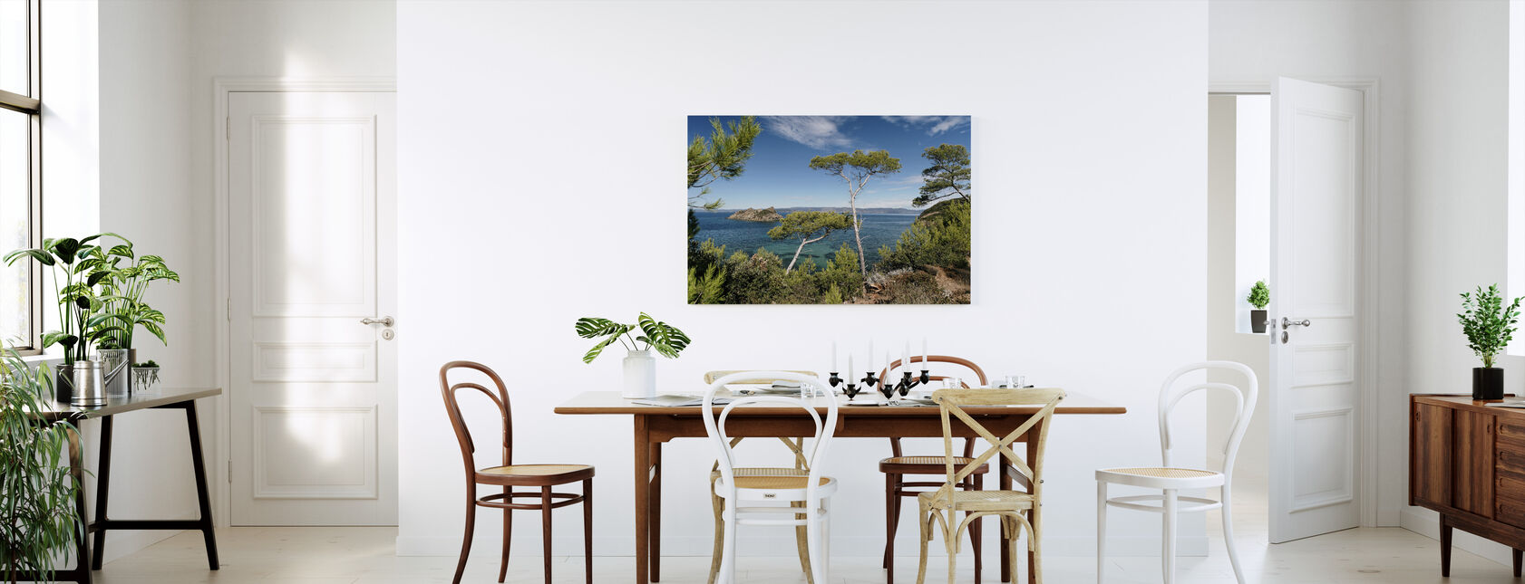 Coastline of Port-Cros Island - Canvas print - Kitchen