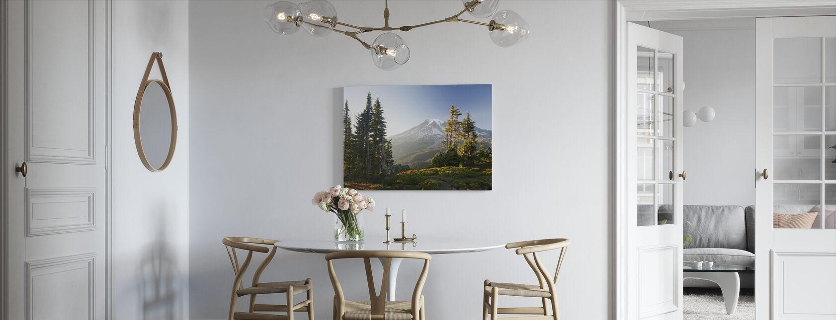 Mount Rainier and Alpine Forest at Sunset - Canvas print - Kitchen