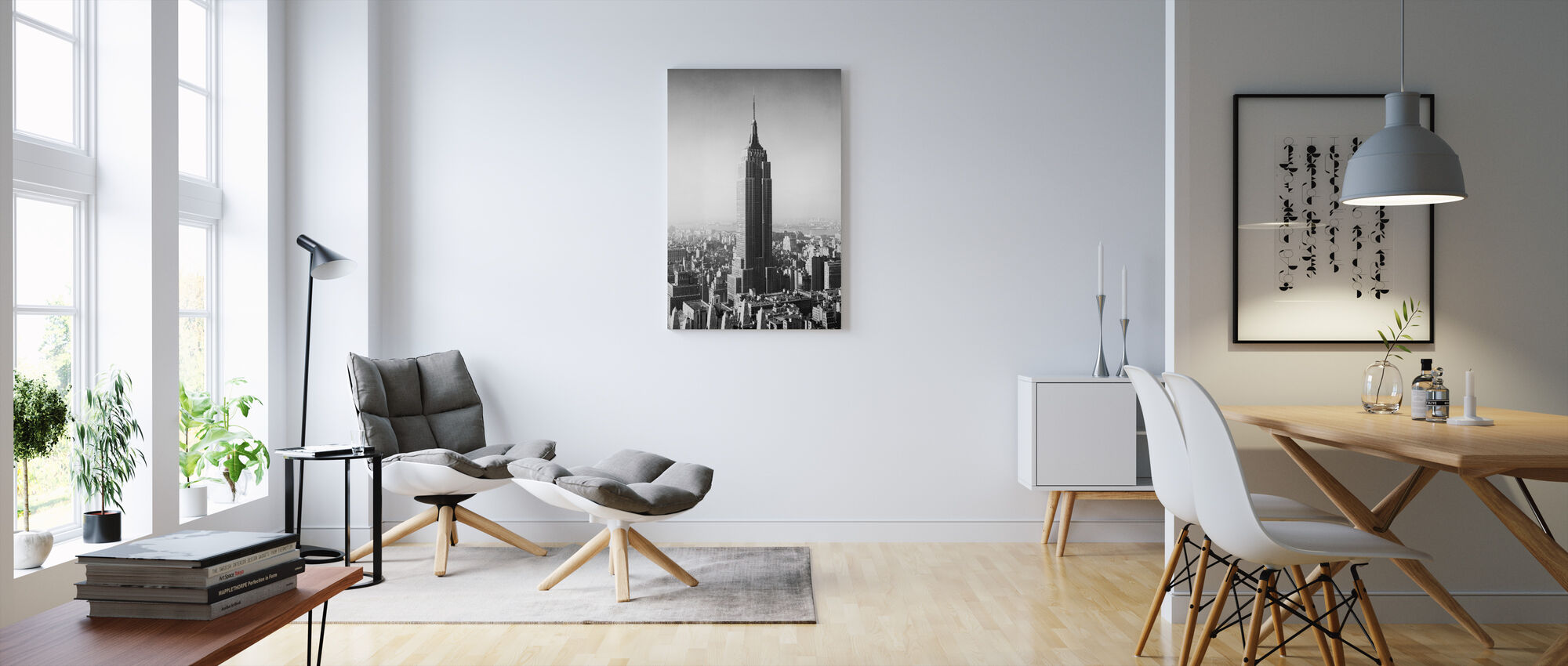 1955 Het Empire State Building - Canvas print - Woonkamer